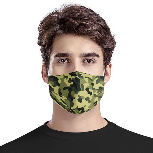 Washable Fashion Face Mask - Holds PM2.5 Filter - Camouflage