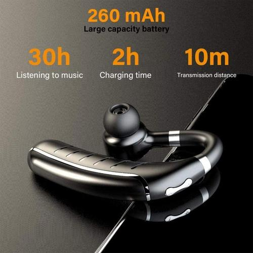 Wireless Sport Bluetooth Earphone with Ear Hook - Single