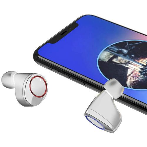 X11 TWS Wireless Earphones Bt 5.0 Touch Control IPX7 + Charging Case - White
