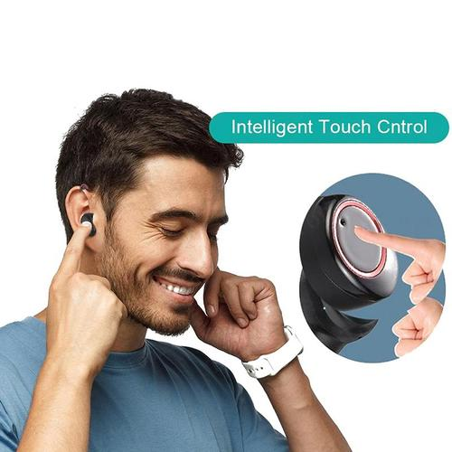 X11 TWS Drahtlose Ohrhörer Bt 5.0 Touch Control IPX7 + Ladecase - Weiß