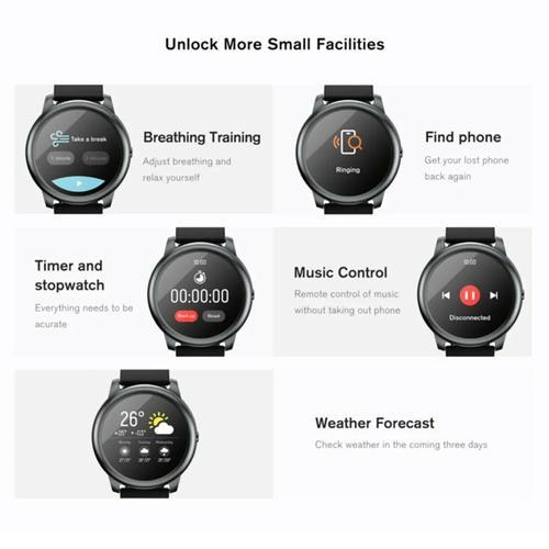 Xiaomi Haylou Solar Smart Watch Fitness Tracker - Black