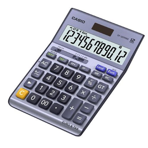 Casio 12 Digit Tax and Currency Desk Calculator (DF-120TERII)