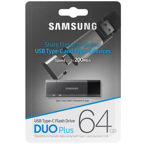 Samsung 64GB Duo Plus USB-C 3.1 Flash Drive - 200MB/s