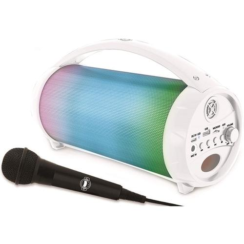 Lexibook iParty Wireless Bluetooth Speakers with Lights & Mic - White