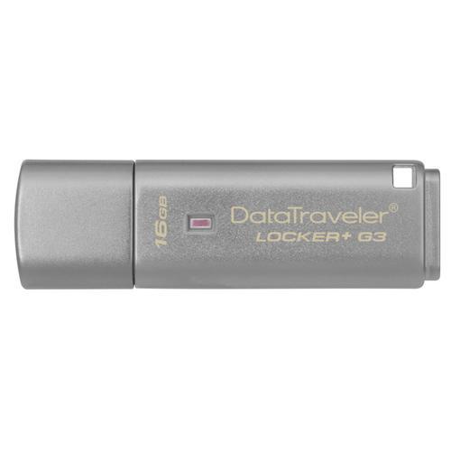 Kingston 16GB DataTraveler Locker+ G3 USB 3.0 Flash Drive - 130Mb/s - Cloud Back-Up
