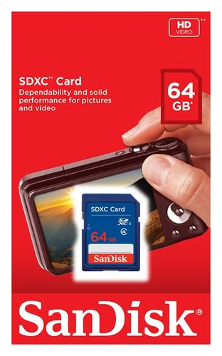 SanDisk 64GB SD Card (SDXC) - 15MB/s