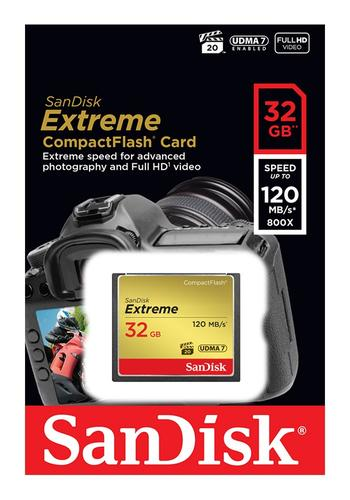 SanDisk 32GB Extreme 800X Compact Flash Card - 120MB/s