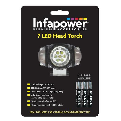 Infapower 7 LED Head Torch
