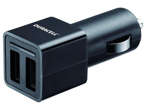 Duracell 2.4A Dual USB Car Charger - Black