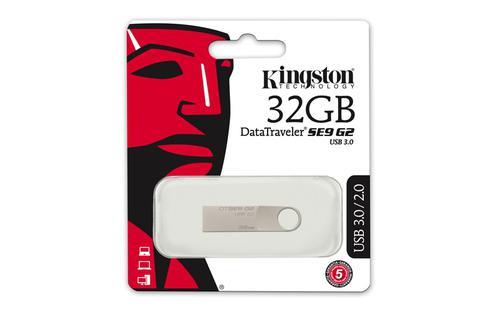 Kingston 32GB DataTraveler SE9 G2 USB 3.0 Flash Drive - 100Mb/s