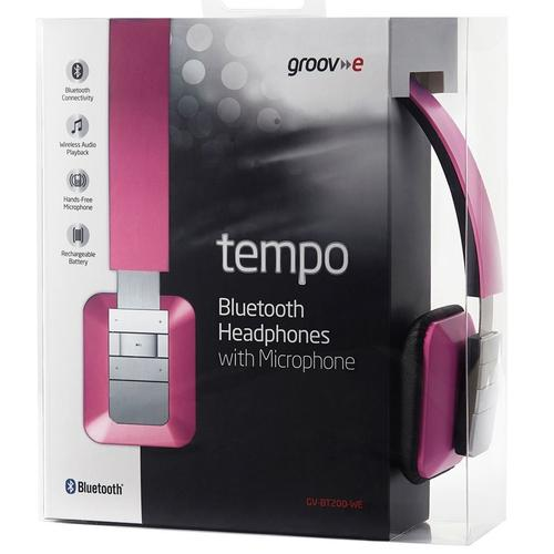 Groov-e Tempo Wireless Bluetooth Kopfhörer mit Mikrofon - Pink