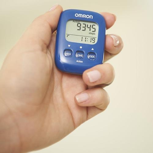 Omron Walking Style IV Step Counter Pedometer - Blue