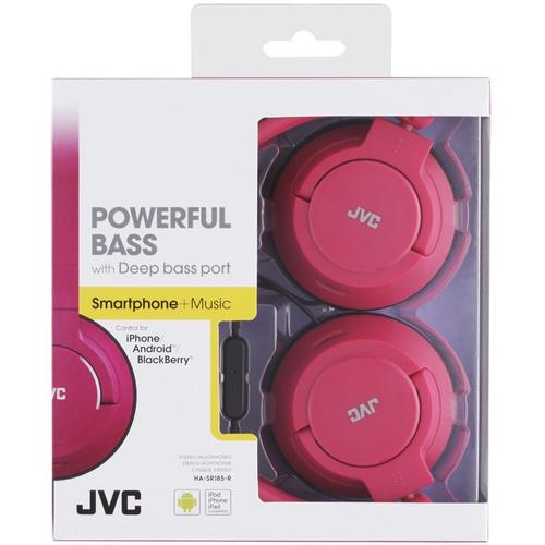 JVC HA-SR185 Extraleichte Stereokopfhörer - Rot