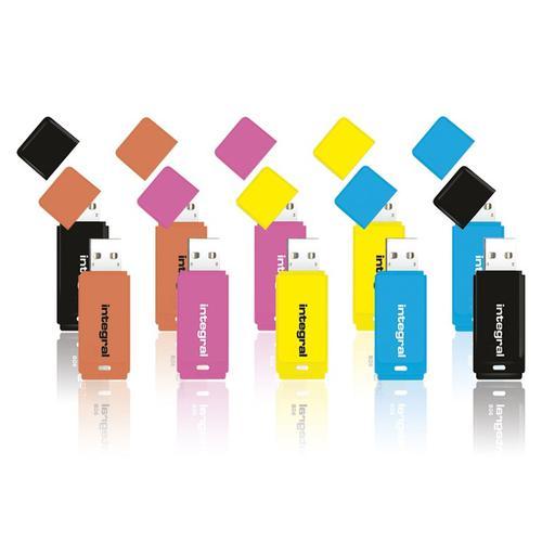Integral 16GB Neon USB Flash Drives - 12MB/s - 10 Pack