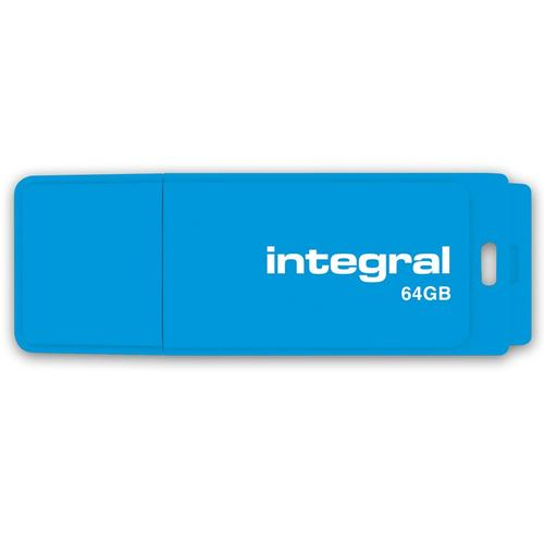 Integral 64GB Neon USB Flash Drive 12MB/s - Blue