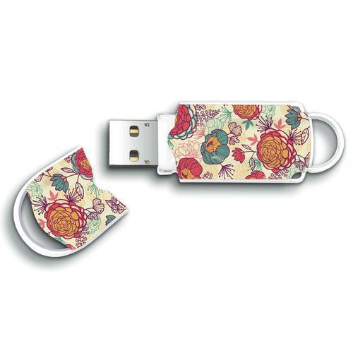 Integral 64GB Xpression USB Flash Drive - Floral