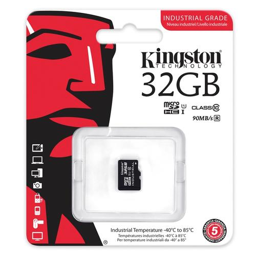 Kingston 32GB Industrial Micro SD Card (SDHC) - 90MB/s
