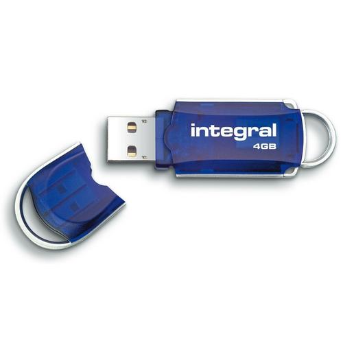 Integral 4GB Courier USB Flash Drive - 12MB/s