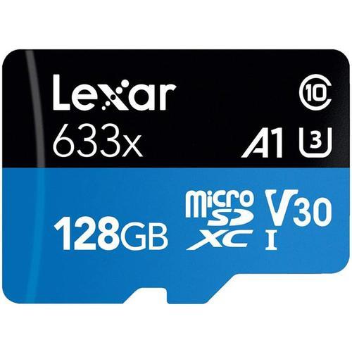 Lexar 128GB High Performance Micro SD Card (SDXC) UHS-I U3 + Adapter - 100MB/s