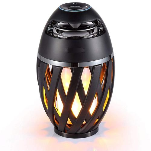 Luceco Wireless LED Flame Speaker - Black