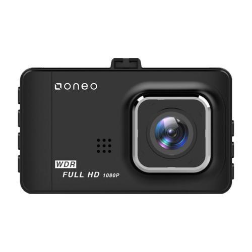 oneo Drive 1080p Car Dash Cam Dual Lens + Rear Camera - Black