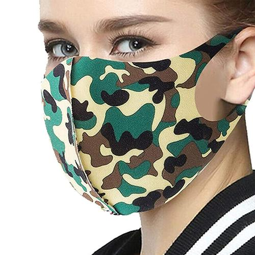 Washable Adult Fashion Face Mask - Forest Camo - 5 Pack