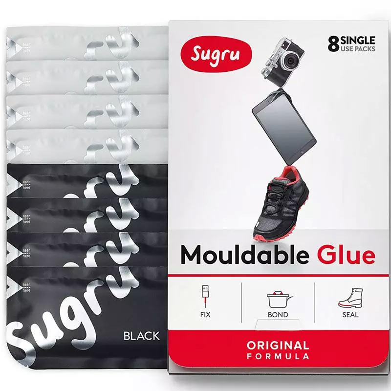 Sugru Mouldable Glue Black/White - 8 Pack