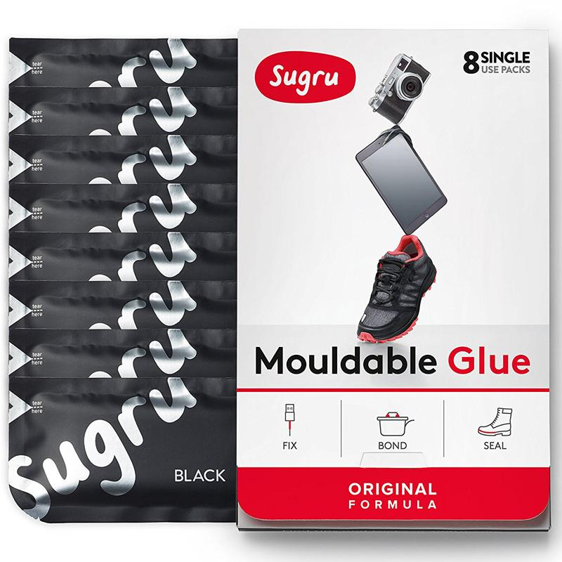 Sugru Mouldable Glue Black - 8 Pack