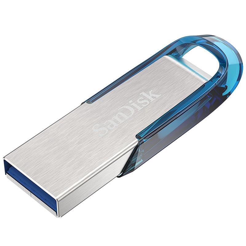 SanDisk 128GB Ultra Flair USB 3.0 Flash Drive - 150MB/s - Tropical Blue