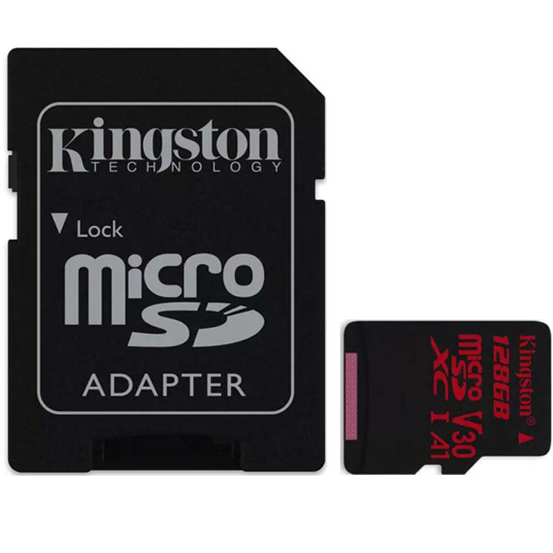 Kingston 128GB Canvas React Micro SD Card (SDXC) UHS-I U3 V30 + Adapter - 100MB/s