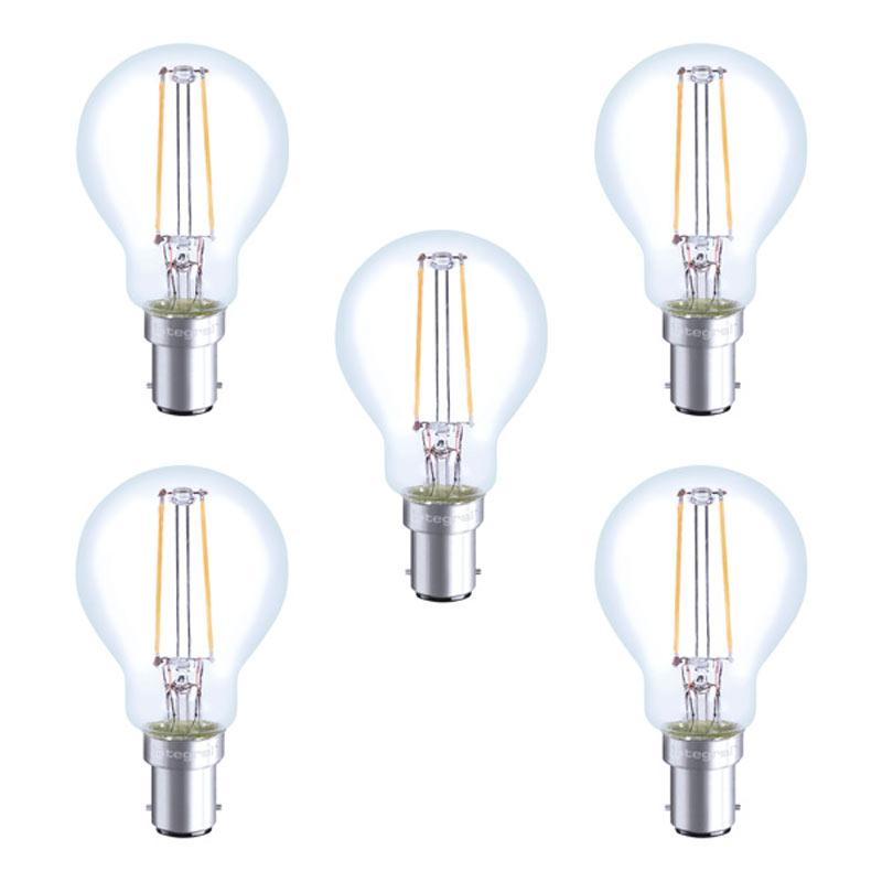 Integral LED Full Glass Mini Globe B15 2W (23W) 2700K Non-Dimmable Lamp - 5 Pack