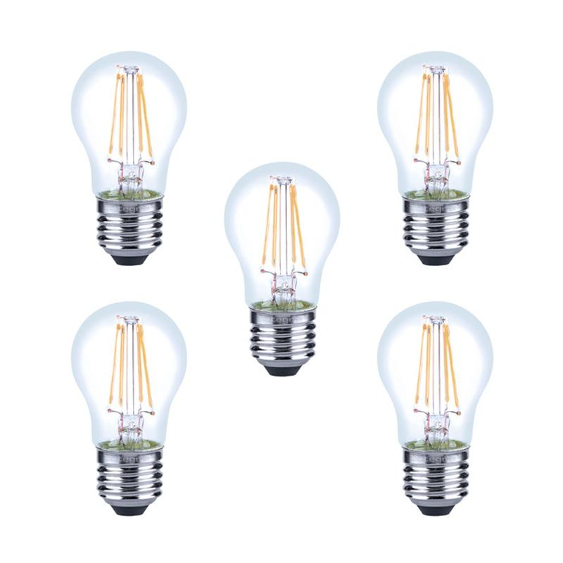 Integral LED Full Glass Mini Globe E27 4.5W (40W) 2700K Dimmable Lamp - 5 Pack