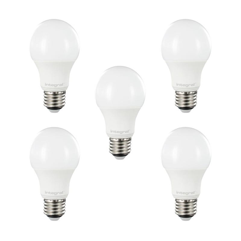 Integral LED Classic Globe E27 6W (40W) 2700K Non-Dimmable Lamp - 5 Pack