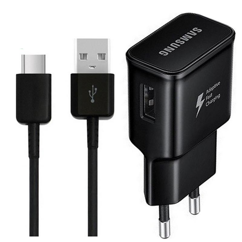 Samsung Galaxy 2A EU Travel Charger + USB-C Cable - Black