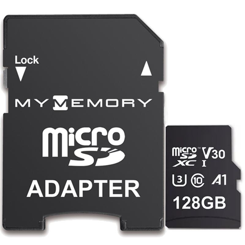 MyMemory 128GB V30 PRO Micro SD Card (SDXC) A1 UHS-1 U3 + Adapter - 100MB/s