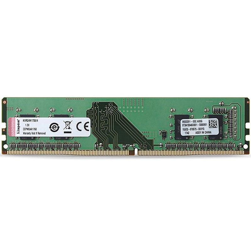Kingston ValueRAM 4GB (1x4GB) 2400MHz DDR4 288-Pin Non-ECC CL17 DIMM PC Memory Module