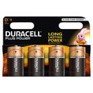 Duracell MN1300 Plus Power D Batteries - 4 Pack