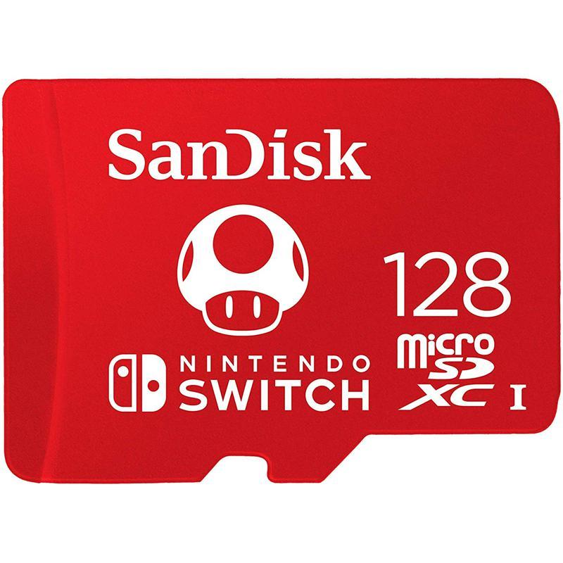 SanDisk 128GB Nintendo Switch Micro SD Card (SDXC) UHS-I U3 - 100MB/s