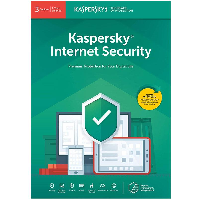 Kaspersky Internet Security 2021 (3 Devices, 1 Year)