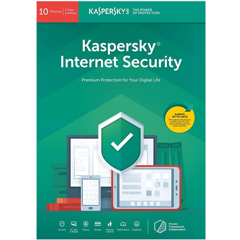 Kaspersky Internet Security 2021 (10 Devices, 1 Year)
