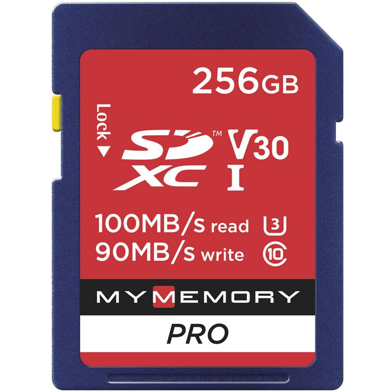 MyMemory 256GB V30 PRO High Speed SD Card (SDXC) UHS-1 U3 - 100MB/s FFP