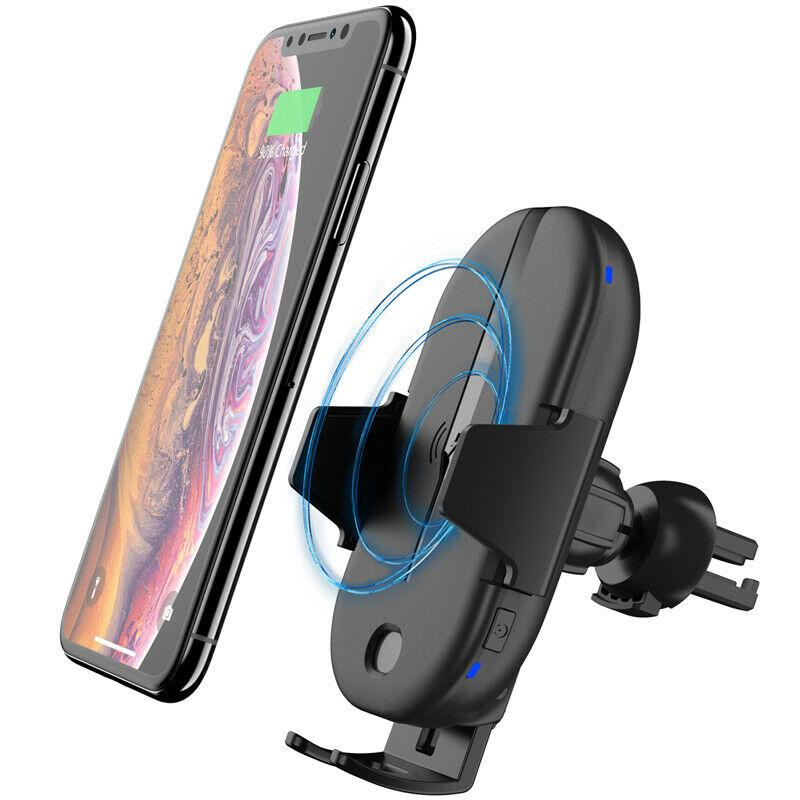 Wireless 15W Car Charging Mount Qi Fast Charging Air Vent Car Phone Holder