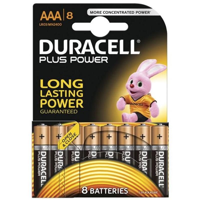 Duracell Plus Power Size AAA Batteries Alkaline 1.5v - 8 Pack