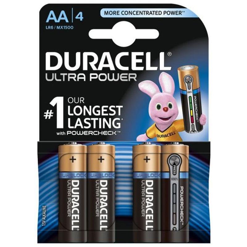 Duracell Ultra Power AA batteries - 4 Pack