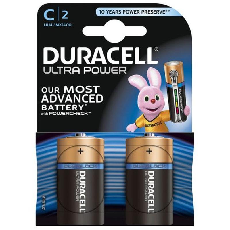 Duracell Ultra Power C Batteries - 2 Pack