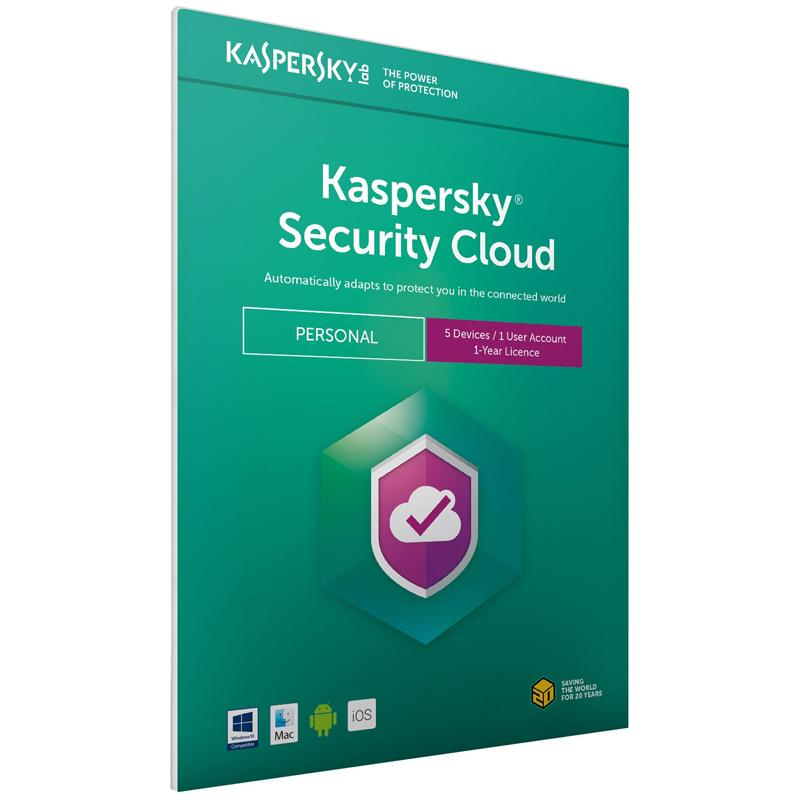 Kaspersky Security Cloud 2021- Personal (5 Devices, 1 Year) FFP