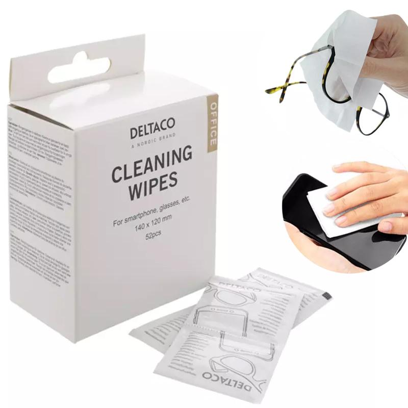 DELTACO Cleaning Wipes - 52 Wipes