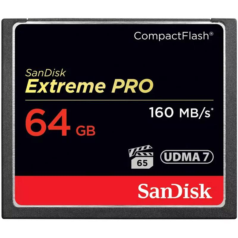SanDisk 64GB 1067X Extreme PRO Compact Flash Card - 160MB/s