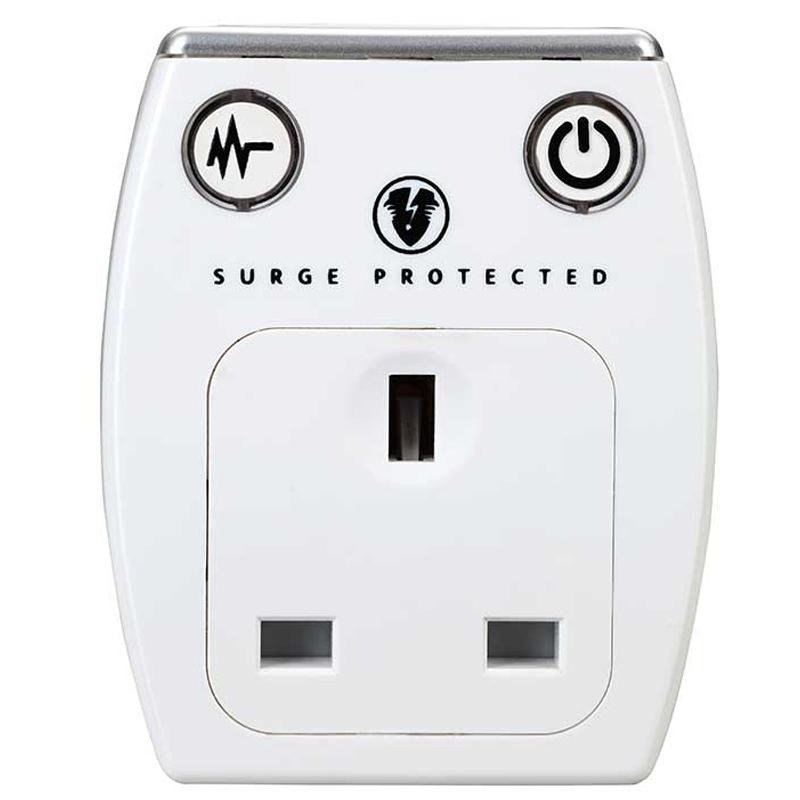 Masterplug 3.1A Surge Protected USB Mains Charger - White