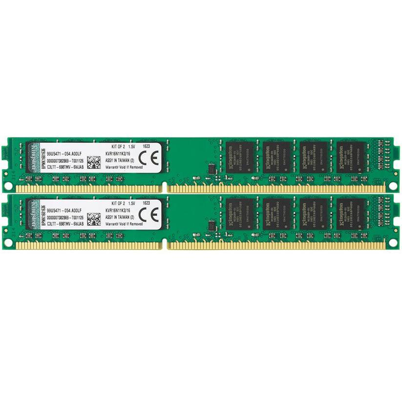 Kingston ValueRAM 16GB (2x8GB) 1600MHz DDR3 Non-ECC 240-Pin CL11 DIMM PC Memory Module